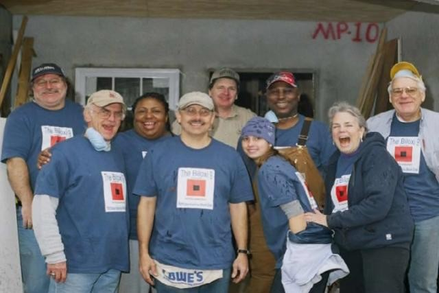 First Trinity Misson Crew Habitat Build in Biloxi after Katrina
