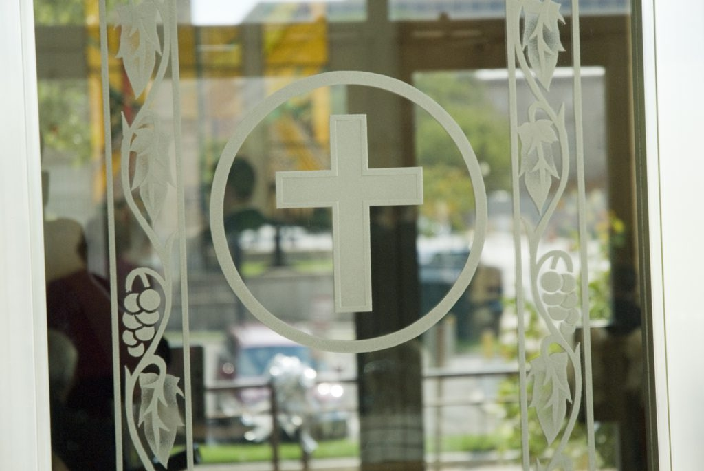 Glass Window Cross